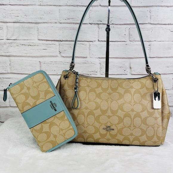 09fbda34201 2PCS Coach Small Mia Shoulder Bag Wallet Set NWT